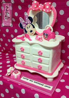 Minnie Mouse Dresser Inspired Cake For A Very Special Icing Smiles Angel Named Love One