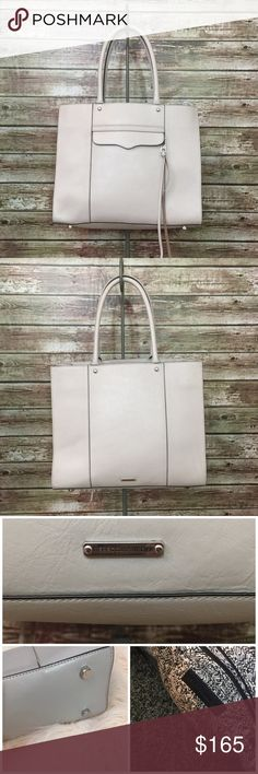 Rebecca Minkoff Medium M.A.B. Leather Tote • Putty Rebecca Minkoff medium M.A.B. tote in putty. Excellent condition save for a Pen mark to the front which is very light and hardly noticeable. Genuine saffiano leather. Make me an offer. Rebecca Minkoff Bags Totes