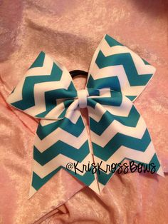 Cheer+Bow++Custom+Chevron+Cheer+Bow+DESIGN+YOUR+by+KrisKrossBows,+$10.00