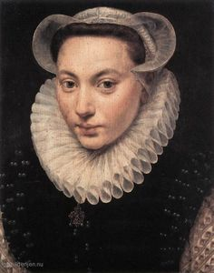 Frans Pourbus (de Oude) - Portret van een jonge vrouw (1581)