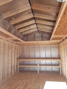 Loafing Shed Plans Backyard Storage Sheds, Storage Shed Plans, Backyard Sheds, Outdoor Sheds, Shed With Loft, Run In Shed, Shed Shelving, Insulating A Shed, 10x12 Shed