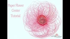 Please read full description below: Paper Flower CENTER Tutorial. (This is ONLY a center tutorial, petals are not included in this video. Diy Backdrop, Paper Flower Backdrop, Paper Flowers Diy, Handmade Flowers, Flower Crafts, Diy Paper, Backdrops, Paper Crafts, Paper Cutting Machine
