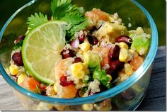 Black Bean, Quinoa & Citrus Salad combines fresh flavors like avocado, citrus and sweet corn in a salad that's exploding with flavor. | iowagirleats.com