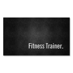 Fitness Trainer Cool Black Metal Simplicity Double-Sided Standard Business Cards (Pack Of 100). I love this design! It is available for customization or ready to buy as is. All you need is to add your business info to this template then place the order. It will ship within 24 hours. Just click the image to make your own!