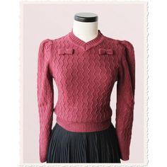 Burgundy Bow Sweater