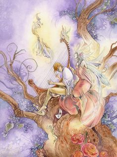 """By Stephanie Pui-Mun Law, fantasy art. Re-pinned by Dew Pellucid, author of """"The Sound & The Echoes"""" http://thesoundandtheechoes.com"""