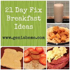 21 Day Fix Breakfast Ideas via www.geniabeme #21dayfix
