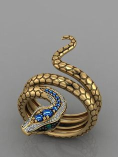 Snake Jewelry, Jewelry Rings, Jewelery, Jewelry Accessories, Gold Jewelry, Gold Plated Rings, Silver Rings, Princess Wedding Rings, Ringe Gold