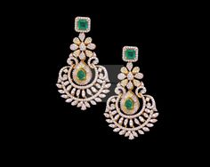 Diamond Earrings & Jhumkis & Bali - Diamond Jewelry Diamond Earrings & Jhumkis & Bali at USD And GBP Diamond Earrings Indian, Diamond Necklace Set, Diamond Earing, Emerald Earrings, Diamond Pendant, Diamond Jewelry, Diamond Studs, Diamond Jumkas, Uncut Diamond