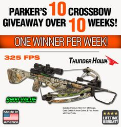 10 Crossbows Over 10 Weeks! Ends 10/23.