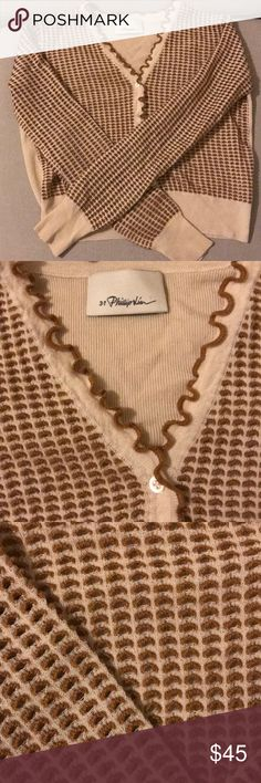 3.1 Phillip Lim 70's style Mod Cardigan! Super cute button front cropped cardigan with lettuce stitch!  Well loved but still amazing! 3.1 Phillip Lim Tops