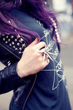 long purple hair - the perfect shade of poiple!