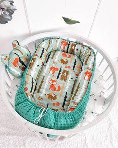 Knot Cushion, Baby Bumper, Baby Nest, Baby Pillows, Minky Blanket, Woodland Baby, Crib Bedding, Handmade Baby, Baby Car Seats