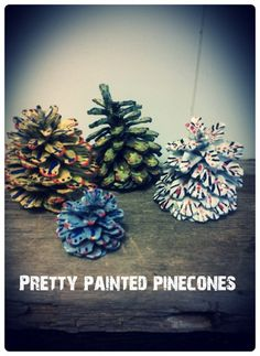 Painted Pinecones Crafts For Thanksgiving Holiday _29