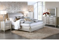 Some people choose incompatible Silver Queen Bedroom Set as a construction feature, as is the case in shabby chic style furnishings 5 Piece Bedroom Set, King Bedroom Sets, Queen Bedroom, Bedroom Furniture Sets, Bedroom Wall, Bedroom Decor, Brown Bedroom Colors, Contemporary Bedroom Sets, Silver Bedroom