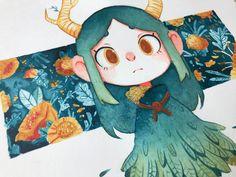 Spring Meclancholy, Anaëlle Aracil on ArtStation at https://www.artstation.com/artwork/JNgNm