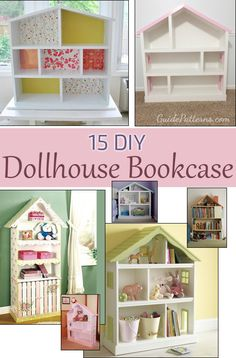 15 Ways to Build a Dollhouse Bookcase