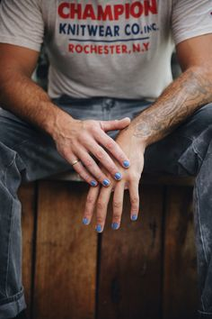 """""""Life is an adventure"""" Azure blue crème – FL OZ. Nail polish Vegan & cruelty free accredited Water permeable & breathable With love from Byron Bay Nail Polish For Men, Blue Nail Polish, Nail Polish Designs, Mens Nails, Gender Roles, Manicure And Pedicure, Nail Ideas, Ariana Grande, Campaign"""