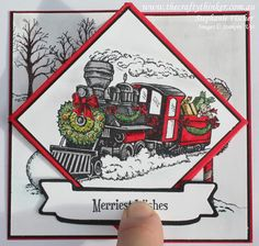 Stampin Up, #thecraftythinker, Diamond Fold, Christmas card, Christmas Magic, Xmas card, Stampin Up Australia Demonstrator