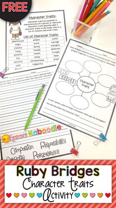 FREE!  This Ruby Bridges character traits activity is free and includes no prep printables that are perfect for any 2nd-5th grade classroom studying character traits and/or Ruby Bridges!