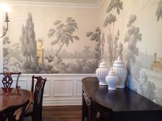 Jefferson     Griffin and Wong chinoiserie handpainted wallpaper