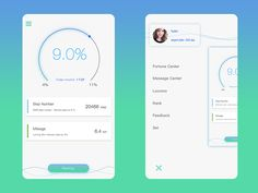 dada sports app designed by Felicity. Dashboard Mobile, Mobile App Ui, Mobile App Design, Flat Design Icons, Ios Design, Dashboard Design, Health Chart, Health App, Mental Health