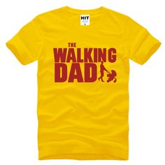 cb37dfc1 The Walking Dad Fathers Day Gift Men's Funny T-Shirt T Shirt Men Short  Sleeve
