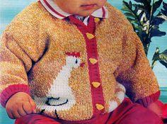 [Tricot] Le cardigan aux poules - La Boutique du Tricot et des Loisirs Créatifs Bebe Baby, Kids Fashion, Men Sweater, Boutique, Sweaters, Blog, Free, Victorian Art, Pullover
