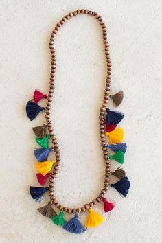Tassel Necklace Multicolor