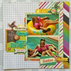 DCWV Honey Chic Stack- no flowery-ness at all in this layout- I DO need to get it!
