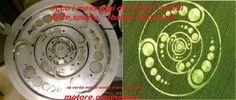 This crop circle represents a motor that produces free/clean energy.