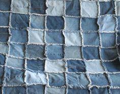 raggedy denim quilt