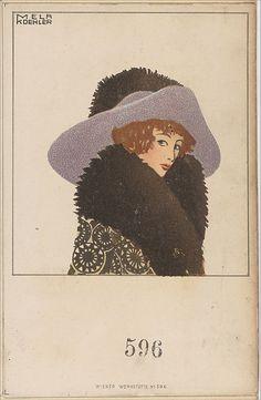 Hutmode (Hat Fashion)  Mela Koehler  (Austrian, Vienna 1885–1960 Stockholm), ca. 1907-14.
