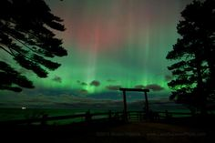 northern lights as seen from Marquette, MI