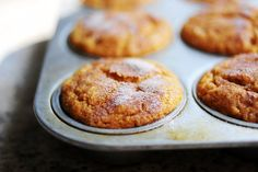 Pumpkin muffins with cream cheese frosting. Or not.
