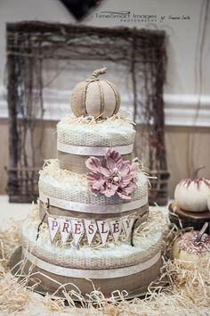 Laura's Diaper Cake_Fall_Rustic_Chic