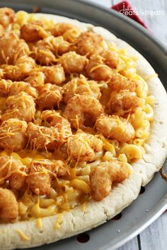 Shrimp Macaroni & Cheese Pizza