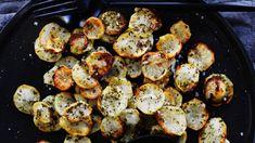 Roast jerusalem artichoke chips with honey and rosemary