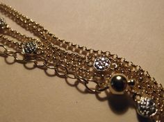 "Diamond By the Yard Necklace; 18k Yellow Gold & .925 Sterling Silver 24""-26"" #DiamondbytheYard #Chain"