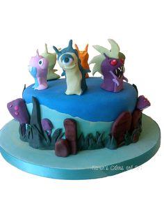 Slugterra cake Infurnus, Bubbaleone,Grenuke, Jellyish, https://www.facebook.com/karenscakesandart