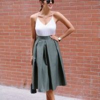 DIY PLEATED MIDI SKIRT  «  a pair & a spare