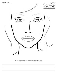 Kb Beauty Com Blank Face Chart Temples Male And Female Template Makeupmakeup