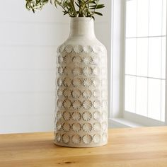 Taline Vase at Crate and Barrel Canada. Discover unique furniture and decor from across the globe to create a look you love. Crate And Barrel, Faux Flower Arrangements, Flower Vases, Art Flowers, Tall Vases, White Vases, Glazed Ceramic, Ceramic Vase, Home Decor Vases