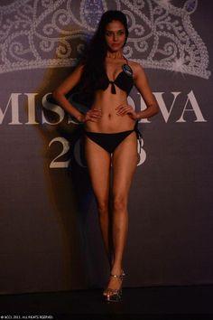 Miss Diva finalist Manasi Moghe strike a pose in a bikini