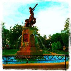 Fountain in Westside Park. Champaign, Illinois