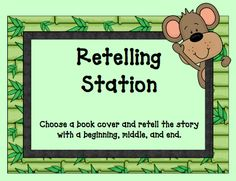 "To play ""Guess The Story"", one child will choose a familiar book cover from the box and retell the story with a beginning, middle, and end.  The other children in the group will guess the title of story.  Children take turns retelling different stories."