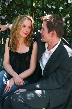 Julie Delpy and Ethan Hawke in Before Sunset, directed by Richard Linklater Before Sunset Movie, Before Sunrise Trilogy, Sunset Movies, Before Trilogy, Before Sunrise Quotes, Julie Delpy, Romantic Movie Scenes, Romantic Movies, Series Movies