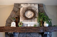 Funky Junk Interiors: Fakin' it with fake plants Funky Junk Interiors, Rustic Garden Decor, Rustic Gardens, Country Decor, Country Style, Fake Plants Decor, Plant Decor, Faux Plants, Indoor Plants