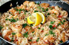 Cajun Shrimp and Rice  Our version of Paella @ Bahama Breeze!