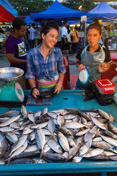 Kota Kinabalu fish market, Borneo, Malaysia